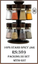 16pc stand spice jar