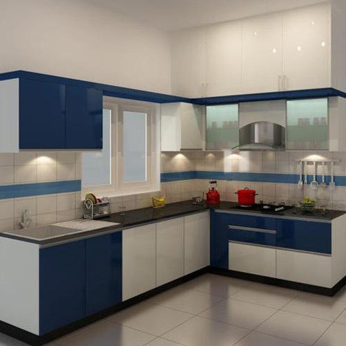 L Shaped Modular Kitchen At Rs 75480 Set L Shape Modular Kitchen