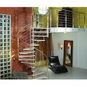 Silver Stainless Steel Spiral Staircase, For Home, Hotels
