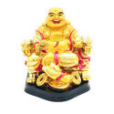 Shinny Golden Feng Shui Laughing Buddha on Chair