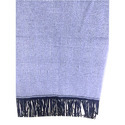 Knitted Scarves With Suede Fringe