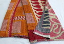 Vintage Designer Kantha Quilt