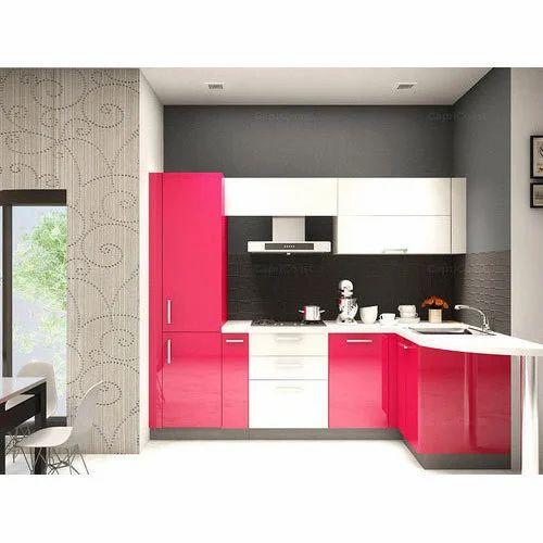 L Shape Modular Kitchen At Rs 60000 Set L Shape Modular Kitchen