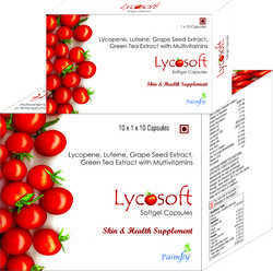 Lycopene Lutin Grapes Seed Extract Green Tea Multivitamin Capsules