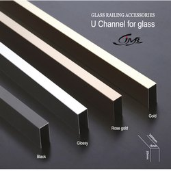 Stainless Steel Black Finish Glass Railing U Channel