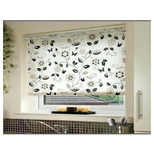 Multi Fabric Printed Roller Blinds Rs 150 Square Feet