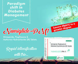 Glimepiride   Metformin   Pioglitazone (NUMIglide-PM1)   Tablet
