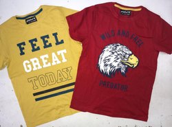Lycra Cotton Casual Wear Kids Printed T-Shirts
