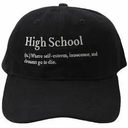 Black Cotton School Caps