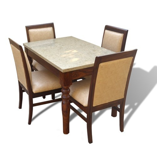 Sophie 4 Seater Dining Table Set With Marble Top At Rs 37500 Set Dining Table Set Id 20279531012