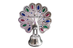 White Metal Peacock Silver