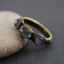 Labradorite Gemstone Finger Rings