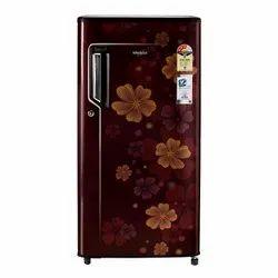 Whirlpool Genius 185L Single Door Refrigerator (Whirlpool 2 Star, Wine Orbit)