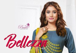 Ballezo Traditional Rayon With Nazmeen Dupatta With Embroidery Work Top With Plazzo Collection