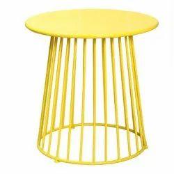 Aleeza Standard Brass Table, Size: Dx50,Hx20 Inch, Iron