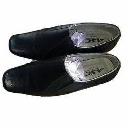 Black Mens TPR Sole Leather Formal Shoes