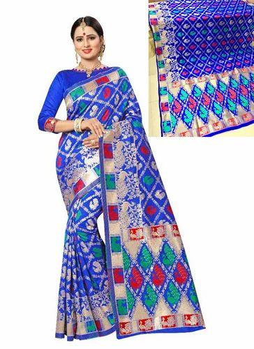 a75e94345b Silk Sarees - Meenakari Work Banarasi Silk Fancy Sarees Manufacturer from  Surat