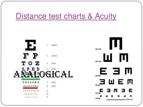 Snellens Distance Vision Eye Chart 20 Feet Analogical Scientific
