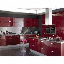 Wooden Fancy Modular Kitchen