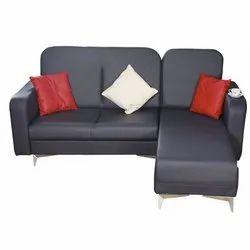 Modern Black Modular Convertible Sofa, For Home, Cushion Back