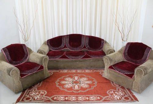 Velvet Chenille Plain Sofa Cover Rs