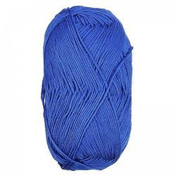Plain Blue Cotton Knitting Yarn, For Textile Industry