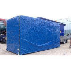 Blue Tarpaulin Panel Covers, Size: 80x88x100 inch