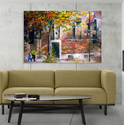 Inephos Canvas Painting - Beautiful Autumn Art Wall Painting, Size: 91cm X 61cm (including 1cm Border For Framing)