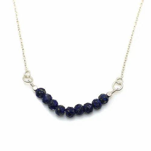 Lapis lazuli Strand Round Beaded Necklace