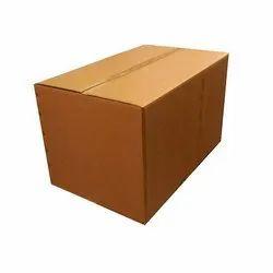 Brown Rectangle Plain Kraft Paper Corrugated Cardboard Box, Capacity: 1-10 kg