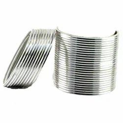 Indian Metal Silver Bangles Set
