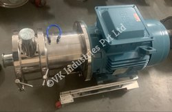 Rubber solution in-line mixer/homogeniser