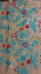 Multi Color Embroidered Fabric