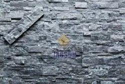 Carbon Black Stacked Stone, Thickness: 10-20 mm, Size: 10x40 Cm