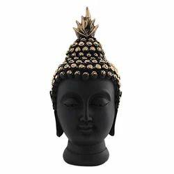 Black Buddha Head Statue