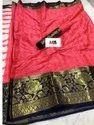 Cotton Silk Border Saree With Blouse