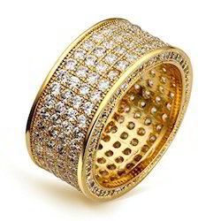 Pave Setting Diamond Gold Ring