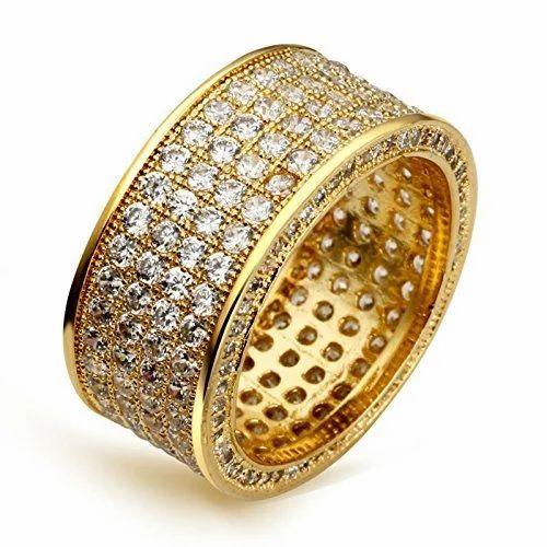 f6133d6754b Wedding Women's Pave Setting Diamond Gold Ring, Rs 28000 /piece | ID ...