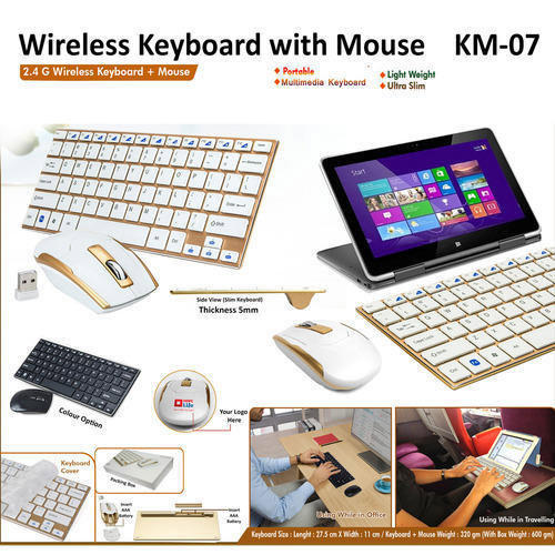 fdd6abbbd44 Gold And Black Wireless Keyboard With Mouse Combo KM07 | ID: 11712733697