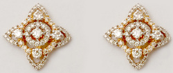 Timeless Tiny High Class Prong Set Diamond Set Traditional Gold Earrings