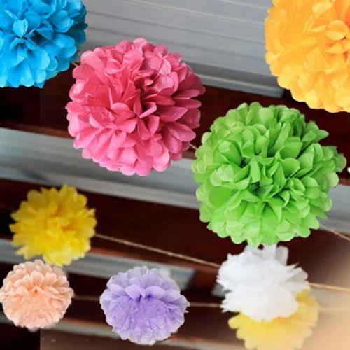 Event decoration paper flower pom pom at rs 40 piece kagaz ke event decoration paper flower pom pom mightylinksfo