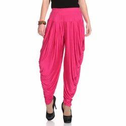 Pink Cotton Ladies Plain Dhoti