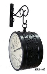 Antique Wall Clock Double Sided
