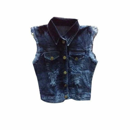 5fc6ea16056 Ladies Sleeveless Denim Jacket at Rs 200  piece