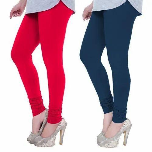 Plain Ladies Churidar Super Cotton Legging V-Cut Style