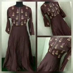 Ethnic Chanderi Gown