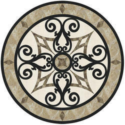 Polished Marble Floor Medallion, Thickness: 16-20 Mm, Shape: Round