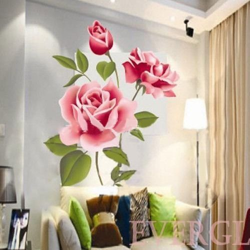 Customised Printed 3d Rose Wallpaper, Size: Customised, Rs 205 ...