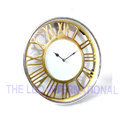 Golden Finish Roman Letter Aluminium Dial Wall Clock