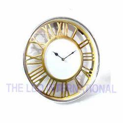 Golden finish roman letter aluminium dial Wall Clock